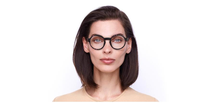 Óculos graduados EMMY PK (TCHIN-TCHIN +1€) tartaruga/rosa - Vista de frente