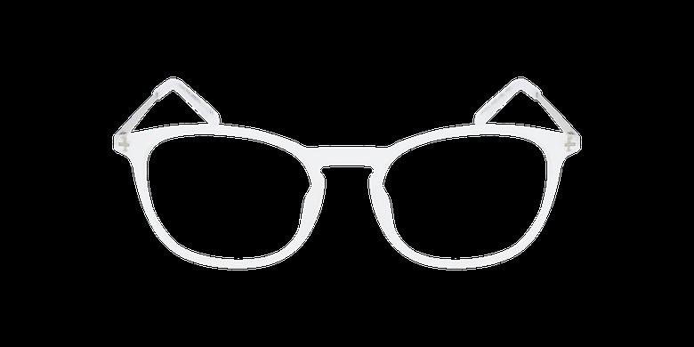 Lunettes de vue homme UMBERTO blanc/argentéVue de face