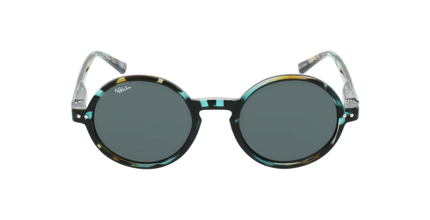 Óculos de sol criança COMO TOGR tartaruga/verde - Vista de frente