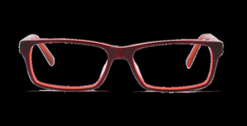 Lunettes de vue homme BASTIEN rouge - vue de face