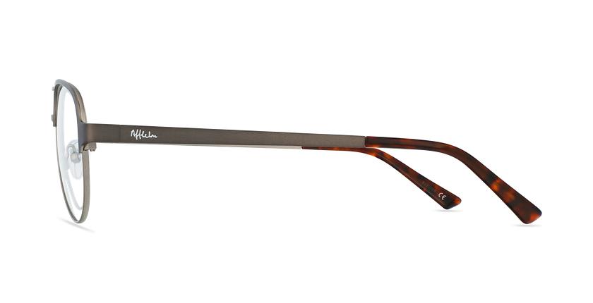 Gafas graduadas NAEL gris/plateado - vista de lado