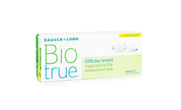 Lentilles de contact BioTrue Presbyte 30L - Vue de face