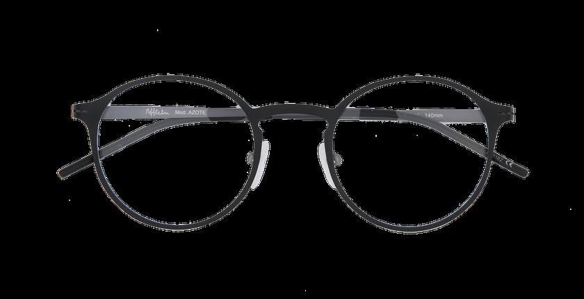 ... Óculos graduados homem AZOTE preto preto cinzento - Vista de frente ... 88f011aa86
