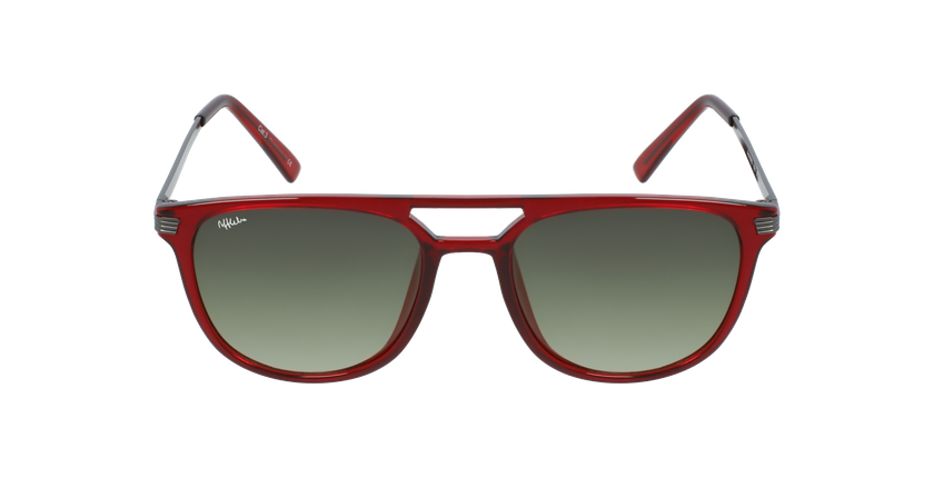 Óculos de sol homem NIERES RD vermelho/cinzento - Vista de frente