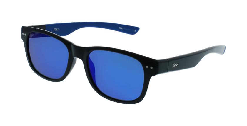 Óculos de sol homem FLORENT POLARIZED BKBL preto/azul - vue de 3/4