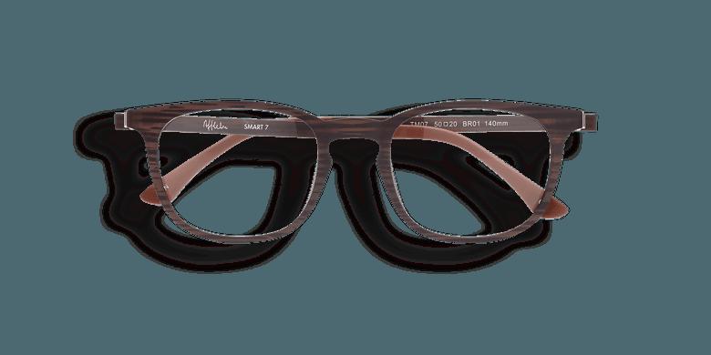 Gafas graduadas hombre SMART TONIC 07 marrón/marrón marmoleado