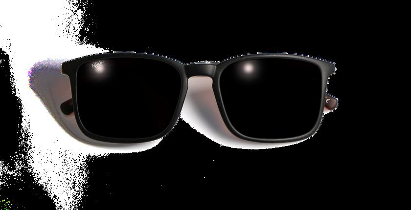 Lunettes de soleil homme SILVIO noir/écaille - Vue de face