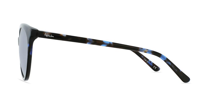 Lunettes de soleil femme ENORA écaille/bleu - Vue de côté