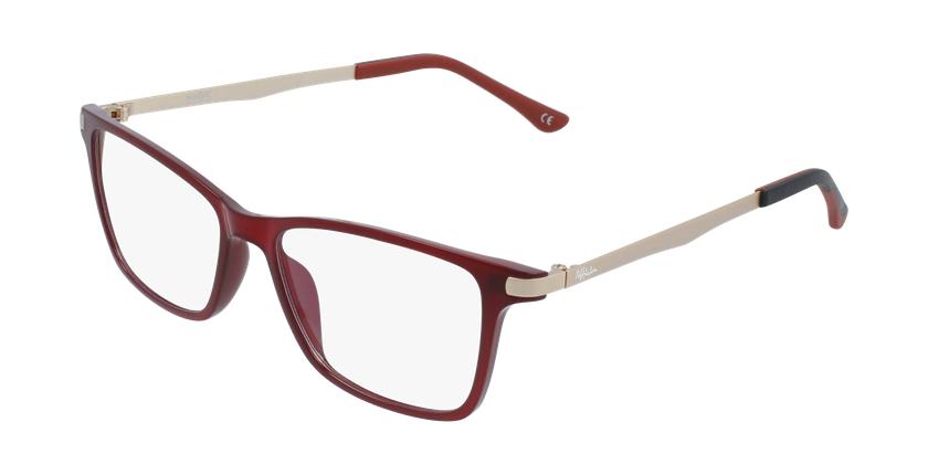 Óculos graduados senhora MAGIC 61 BLUEBLOCK - BLOQUEIO LUZ AZUL vermelho - vue de 3/4