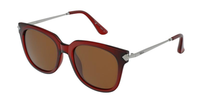 Óculos de sol senhora VETEAA RD vermelho/prateado - vue de 3/4