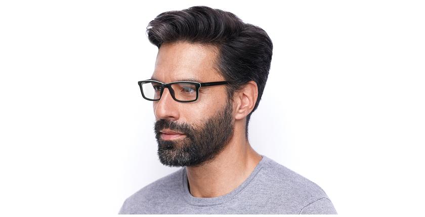 Óculos graduados homem LEON BK (TCHIN-TCHIN +1€) preto - vue de 3/4