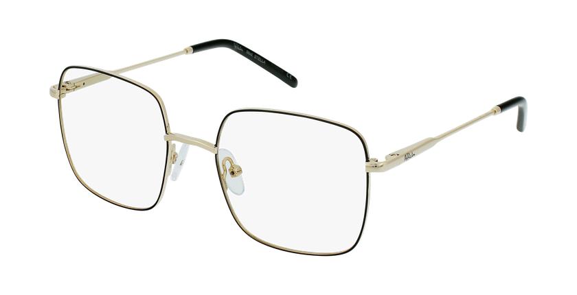 Óculos graduados criança STELLA BK (TCHIN-TCHIN +1€) preto/dourado - vue de 3/4
