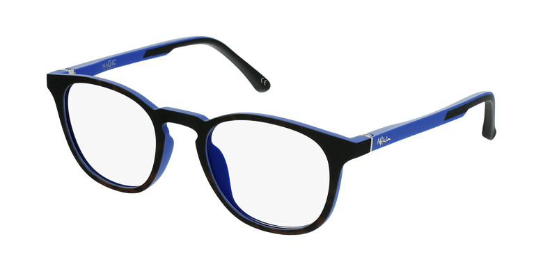 Lunettes de vue enfant MAGIC 79 écaille/bleuvue de 3/4