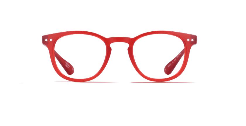 Óculos graduados MOD01P vermelho - Vista de frente