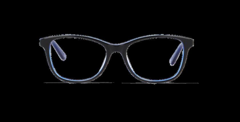 Lunettes de vue femme MADY noir/bleu - Vue de face