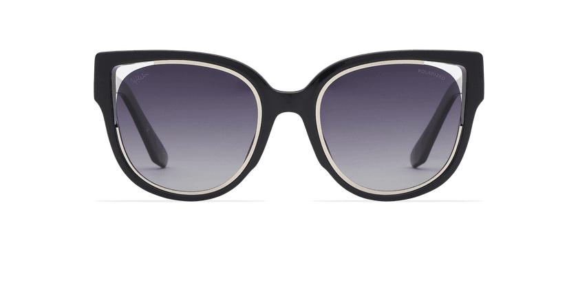 Lunettes de soleil femme MAHEA noir/argenté - Vue de face