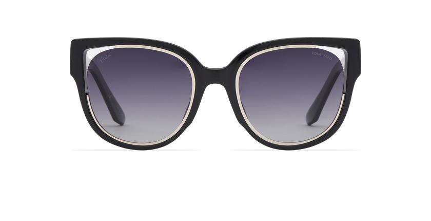 Óculos de sol senhora MAHEA POLARIZED preto/prateado - Vista de frente
