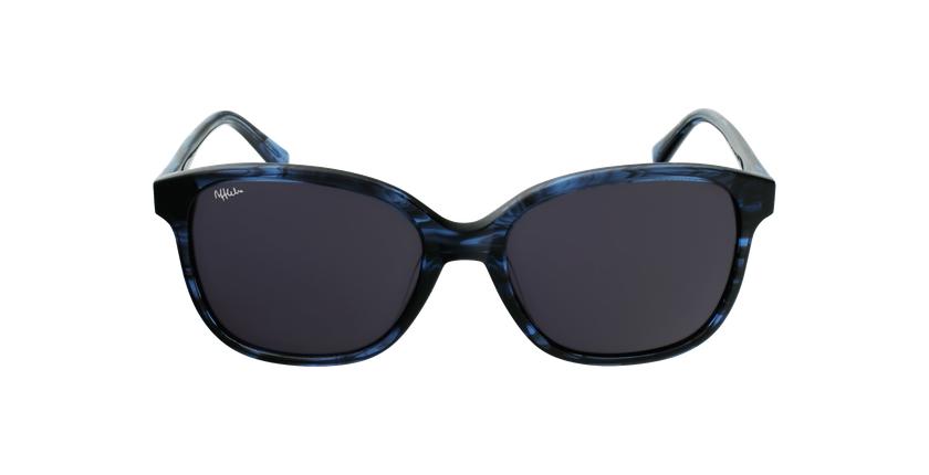 Lunettes de soleil femme GLORIA bleu/noir - Vue de face
