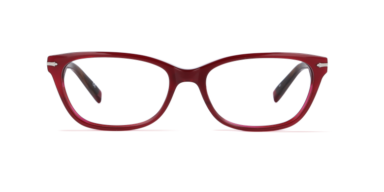 Óculos graduados senhora PLYMOUTH vermelho