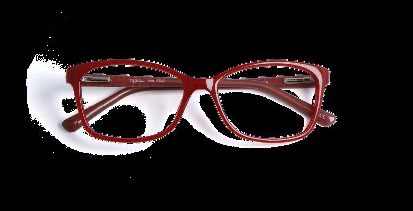 Lunettes de vue femme AELA rouge - Vue de face