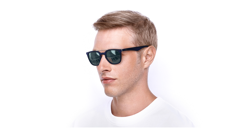 Óculos de sol homem CAGLIARI POLARIZED azul - vue de 3/4