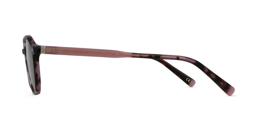 Lunettes de vue BIZET violet - Vue de côté