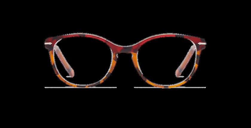 Gafas graduadas mujer BELLEFONTAINE rojo/carey - vista de frente
