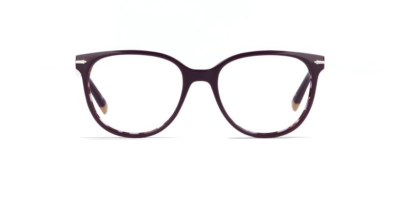 Óculos graduados senhora WINDSOR violeta/tartaruga  - Vista de frente