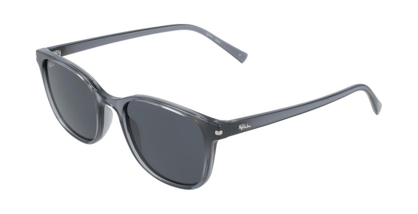 Óculos de sol ALCUDIA GY cristal/cinzento - vue de 3/4