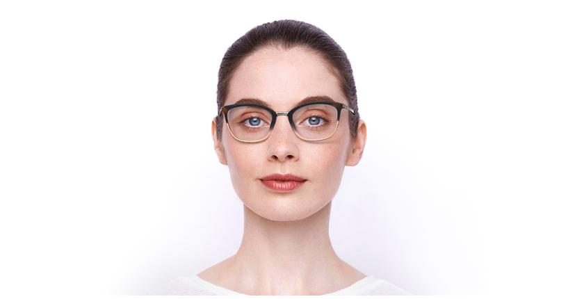 Lunettes de vue femme BEETHOVEN beige/écaille - Vue de face