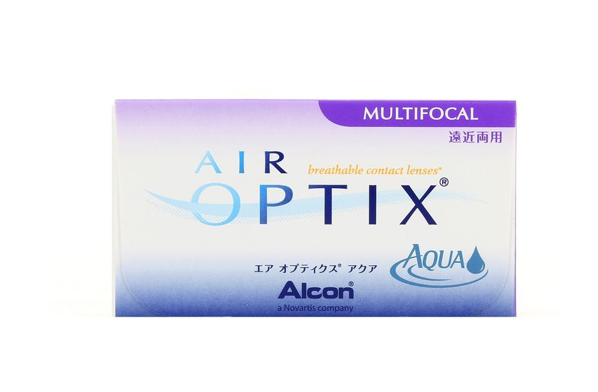 Lentilles de contact Air Optix Aqua Multifocal HIGH 3L - vue de face