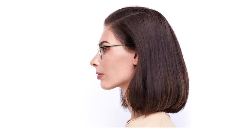 Lunettes de vue femme ERIN noir/doré - Vue de côté