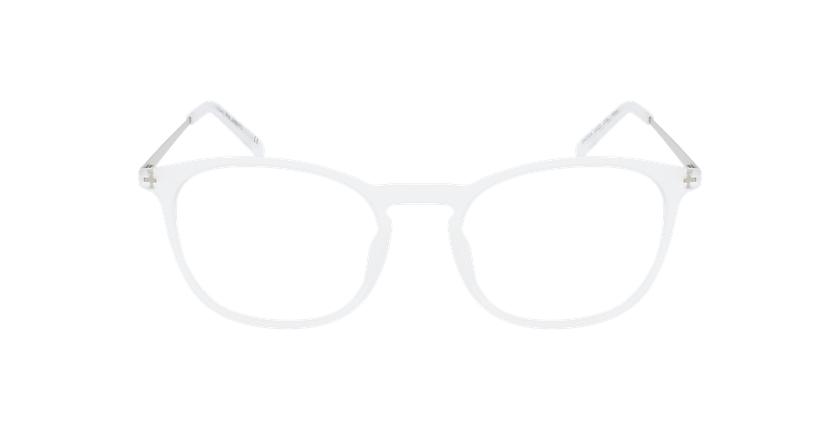 Lunettes de vue homme UMBERTO blanc/argenté - Vue de face