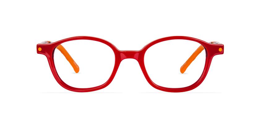 Lunettes de vue enfant CARL1 rouge/orange - Vue de face