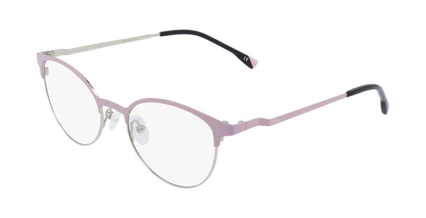Óculos graduados senhora MAGIC 54 BLUEBLOCK - BLOQUEIO LUZ AZUL rosa/dourado - vue de 3/4