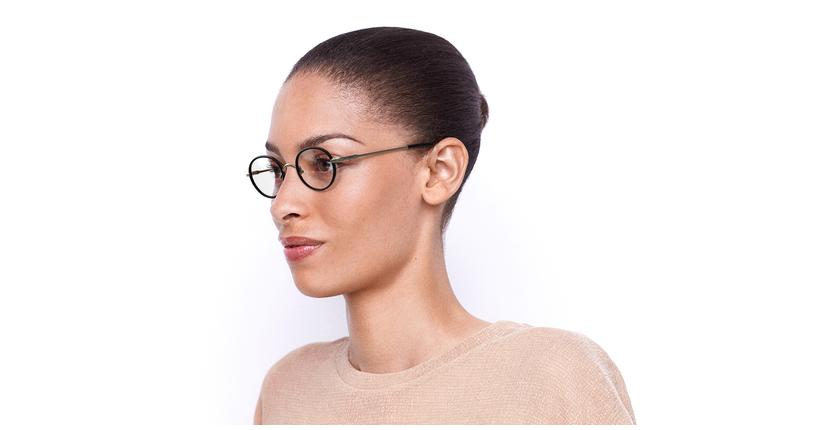 Óculos graduados PUCCINI GD dourado/vermelho - vue de 3/4