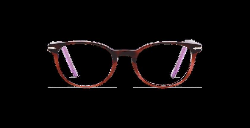 Gafas graduadas mujer NANTUA carey/morado - vista de frente