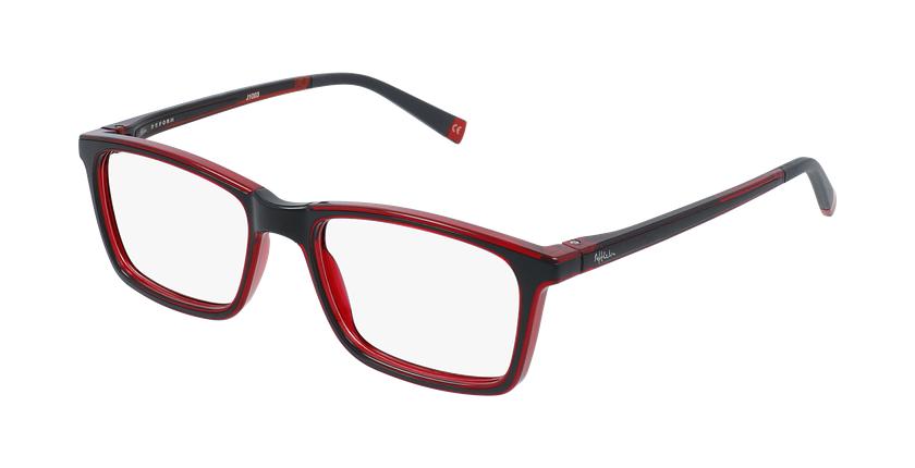 Óculos graduados criança RFOC1 BK2 REFORM preto/vermelho - vue de 3/4
