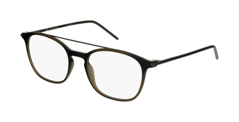 Lunettes de vue homme TMF71 gris/vert - vue de 3/4