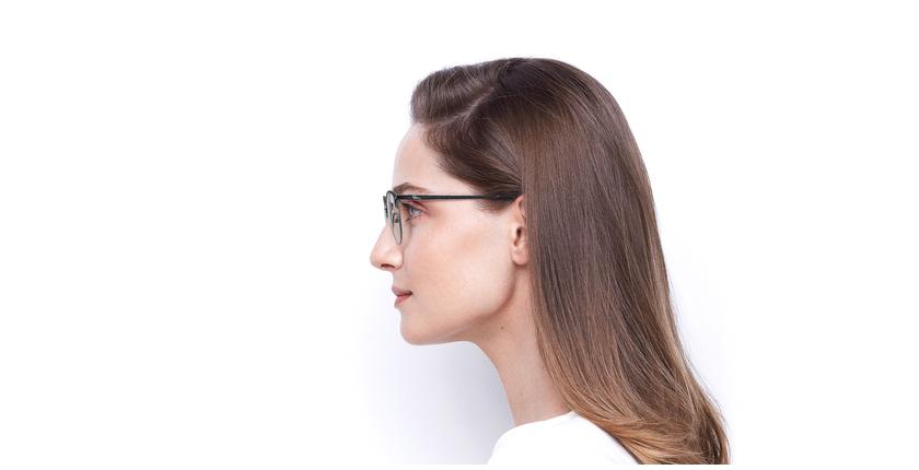 Lunettes de vue femme SUE bleu - Vue de côté