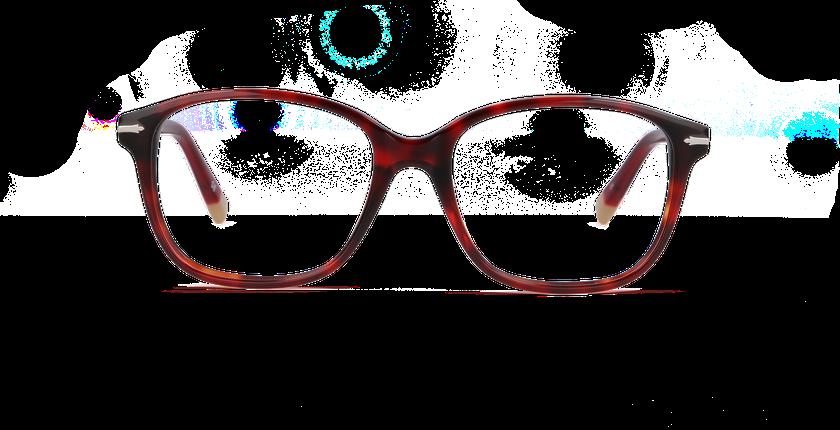 Lunettes de vue femme BERKELEY rouge/écaille - Vue de face