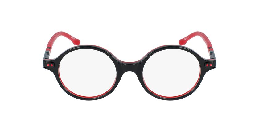 Lunettes de vue enfant BELLO1 noir/rouge - Vue de face
