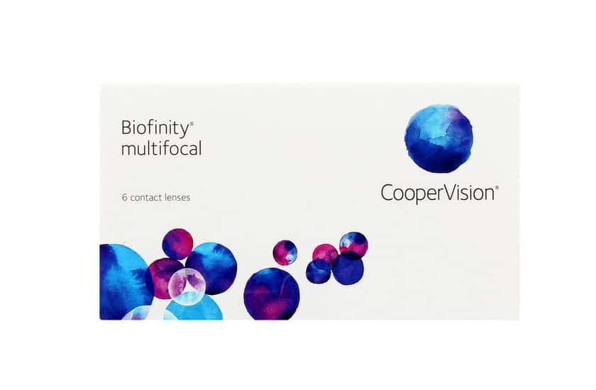 Lentilles de contact Biofinity® Multifocal N 6L - vue de face