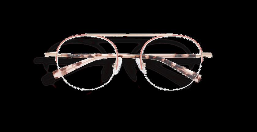 Óculos graduados senhora REBECCA (Tchin-Tchin +1€) rosa/dourado - Vista de frente