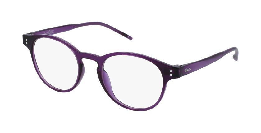 Lunettes de vue MAGIC 48 BLUEBLOCK violet - vue de 3/4