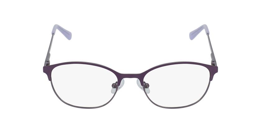 Lunettes de vue femme LISON violet/rose - Vue de face