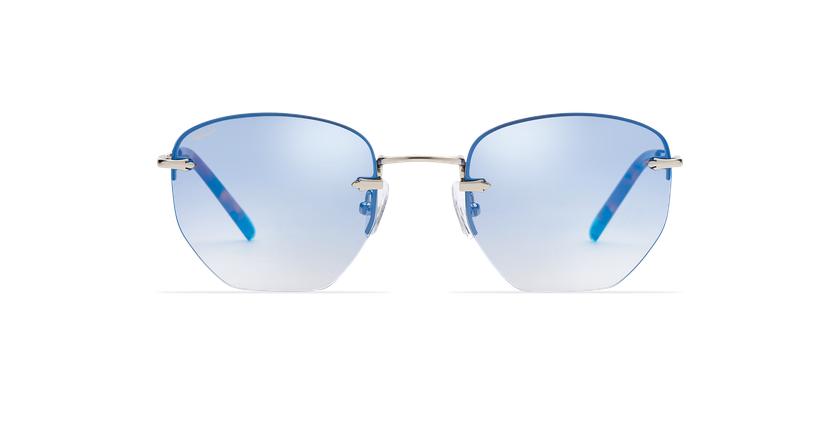 Óculos de sol senhora JENNA BL prateado/azul - Vista de frente
