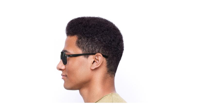 Óculos de sol homem CRUZ GU preto/cinzento - Vista lateral