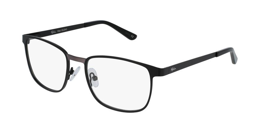 Óculos graduados homem Gildas bkgu (Tchin-Tchin +1€) preto/cinzento - vue de 3/4