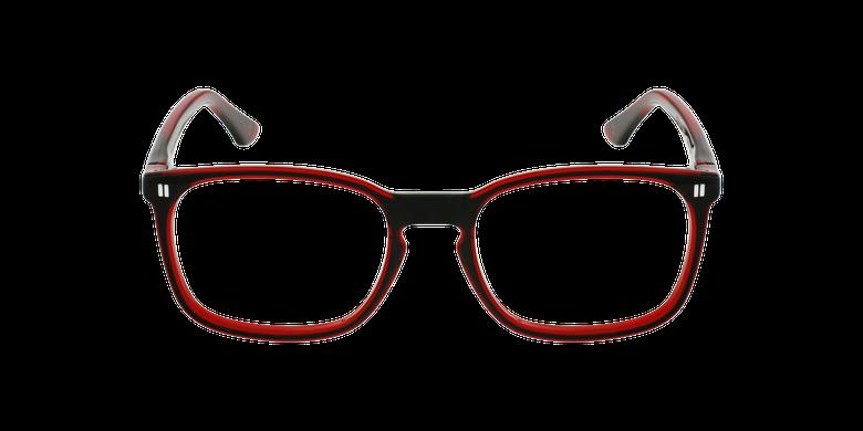 Óculos graduados criança REFORM TEENAGER (J2BKRD) preto/vermelhoVista de frente